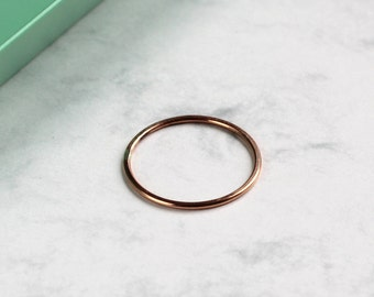 Skinny Stacking Ring - Rose Gold Fill | Midi ring | Knuckle ring | Rose gold stackable Ring | Mila Kunis ring | Ultra thin wedding band