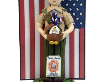 Eagle Scout BASIC Cake Topper and Ornament Hybrid