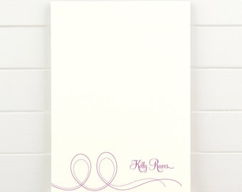PIROUETTE Personalized Notepad - Cute Custom Letterhead