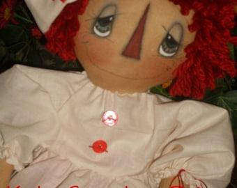 Primitive Raggedy Ann Nurse Annie Nightingale Instant Download PATTERN 156