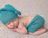 Short Pants, Baby Hat Sleep Cap, Newborn Photo Props,  Choose size color