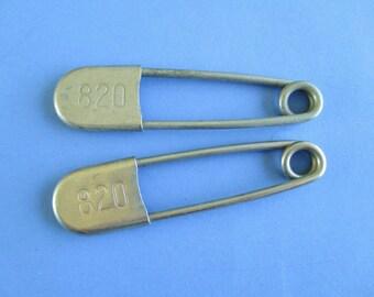 Pair of Large Vintage Numbered Key Tags / Pins