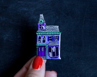 Haunted House Brooch / Pin - Hallowqueen Collection