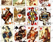 Vintage Playing Cards Download Digital Collage Sheet Images Graphics No.236