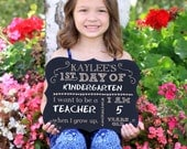 First Day of School Chalkboard Sign, 1st Day, Back to School Chalkboard Sign, Engraved Chalkboard Sign, Back to School Sign --6962