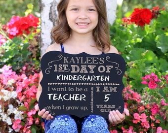 First Day of School Sign, Chalkboard Sign, 1st Day, Back to School Chalkboard Sign, Engraved Chalkboard Sign, Back to School Sign --6962