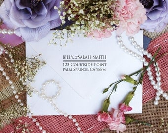 Return address rubber stamp classic layout great for wedding invitations  Clear Block --2230