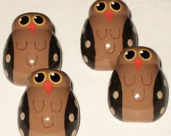 Owl Push Pins, Owl Thumb Tacks, Decorative Push Pins, Bird Push Pins, Bulletin Board Push Pins, Cork Board Push Pins, Owl Pin, Owl Theme