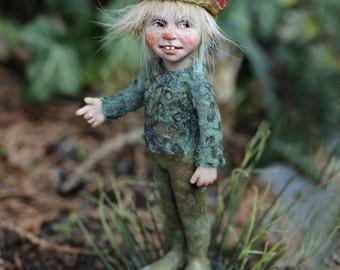 One of a kind miniature artdoll Knilch 1:12th by Tatjana Raum dollhouse size