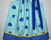 Girls Dress with Dory Pillowcase Dress Finding Dory Dress with Fish Dress Ocean Party baby dress toddler dress Under the Sea Beach Party