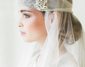 "Art Deco Bridal Headpiece    1920s Inspired Handmade Lace Bandeau Headband   Gatsby Wedding   ""Camille"""