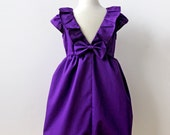 Violet Purple Dress for Toddler and Girl, Birthday Party, Holiday or Flower Girl Dress