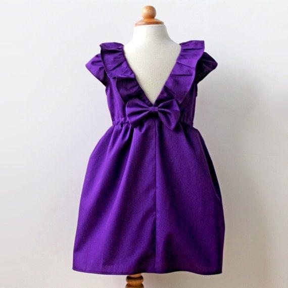 Violet Purple Dress Flower Girl Dress Toddler flower girl