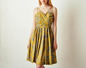 Vintage Batik Print Dress