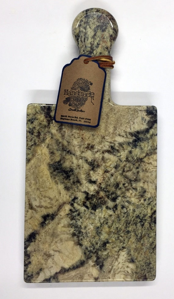 Granite Cheeseboard - Stone Color Typhoon Bordeaux - Artisan Crafted Kitchen Accessory Serving Cheese Snack Tray Houseware
