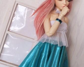 BJD Doll clothes Slim MSD Minifee Bracelet set Silver blue Turquoise bangle set MonstroDesigns