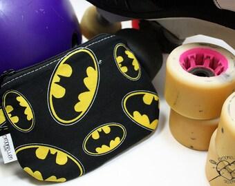 Waterproof Mouth Guard Case Roller Derby Batman Zipper Closure Made To Order