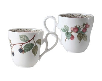 Royal Orchard by Noritake 9416 Fruit Pattern, Fine China, Primachina, Japan, Mug, Coffee Mug, Discontinued Pattern