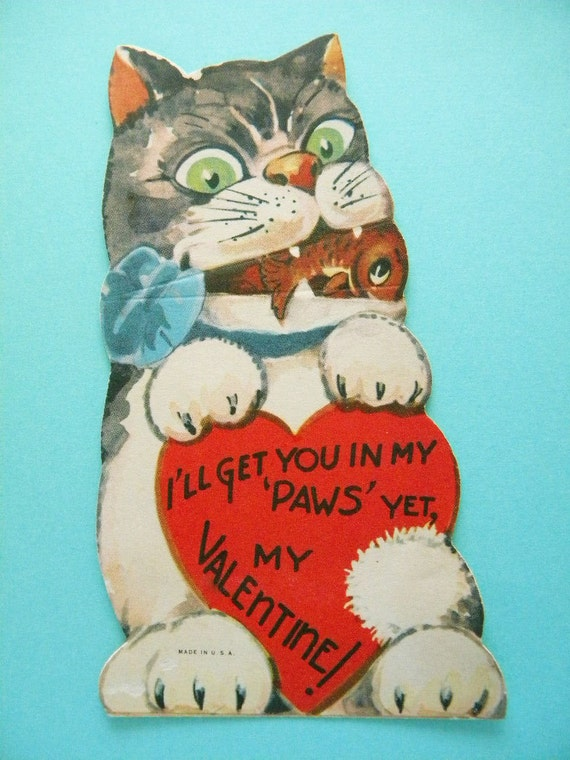 Valentines Day Vintage Cats Kittens Cards Page Two – Old Valentines Day Cards