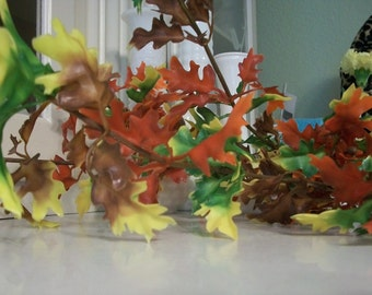 Vintage Mid-Century Modern  Colorful Plastic Fall Foliage  Very Retro Free Shipping