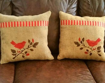 Pair Of Burlap Coffee Bean Bag His And Hers By