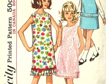 Girl's Shift Dress Size 14 Simplicity 5525