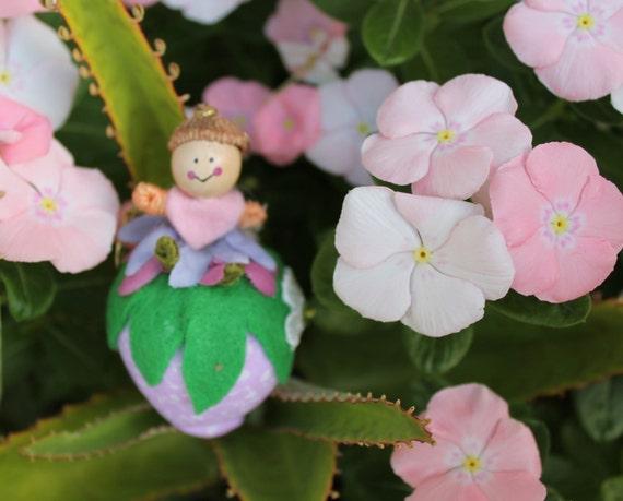 Felt Art Doll and Plush Strawberry, hanging ornament, door hanger, bowl fillers