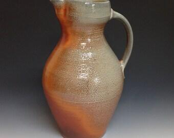 Large Pitcher. Soda Fired Stoneware