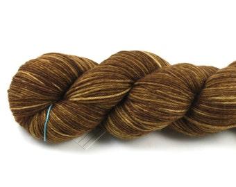 Cinnamon--hand dyed sock weight yarn, merino, cashmere, nylon (435yds/100gm)