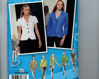 Misses Sewing Pattern Simplicity 2728 Misses Jacket with Collar and Sleeve Variations Size 4 6 8 10 12 Bust 29 30 31 32 33 34 UNCUT  99