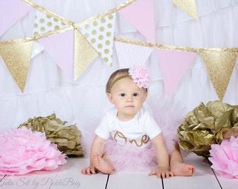 1st Birthday Outfit Tutu, First Birthday Outfit Girl Tutu, Cake Smash Outfit Girl Tutu Skirt, SEWN Tutu, Tulle Skirt, 1st Birthday Tutu Gift