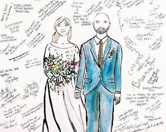 Wedding Sign-in Illustration