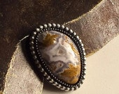 Calico Lace Agate - Stone and Sterling Silver - Your Choice - Ring or Pendant