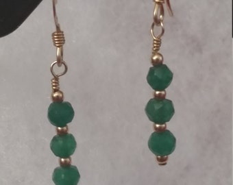 E1069 Emerald Earrings