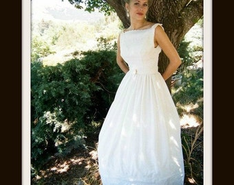 Cotton Wedding Dress  'GRETEL'