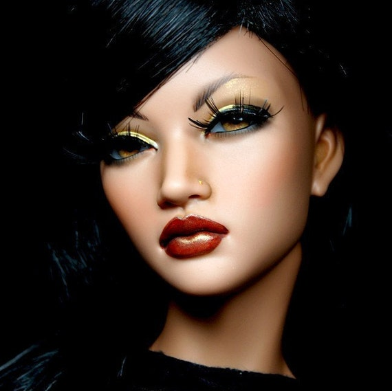 Commission spot for Custom Faceup for your Ball Jointed Doll BJD with Inset Eyes. Aesthetics.