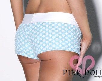 Baby Blue Polka Dot Short Set