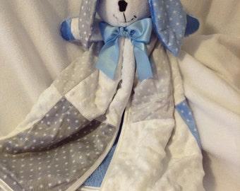 Baby Boy Bunny Blanket