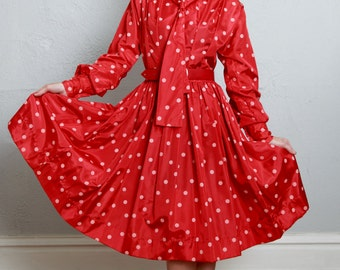 SALE - Red Polka Dot Dress