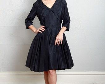 SALE - Black Taffeta Dress
