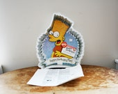 vintage 1990 90s Wilton Bart Simpson Happy Birthday, Man! Cake Pan W/Directions