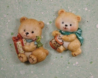 Bear Embellishment set of 2