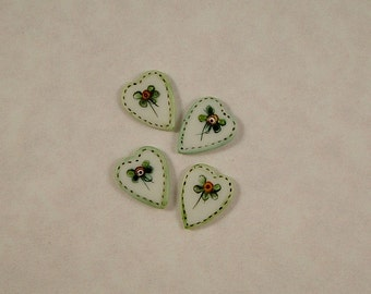 Heart Embellishment set of 4