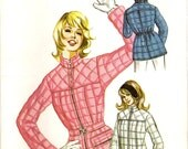 1970s Kwik Sew 386 UNCUT Vintage Sewing Pattern Ladies Ski Jacket Sport Jacket Puffy Coat Size 8 - 10 - 12