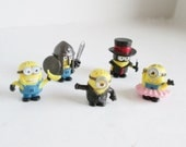 Five Minion Tokens from Monopoly Despicable Me Minions Characters Hasbro Monopoly Board Game Pawns Mover Pieces