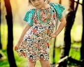 Girls Organic Dress - Hippie Dress - Summer Dress