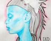 YO-Landi ViSSer Fan Art - Surrealism - Pet Rat - Art Print - Die Antwoord - Illustration Art by Far Out Arts