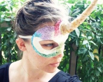 FLASH SALE! - Lisa - Rainbow Sparkle Unicorn Mask!