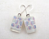 Fused Glass Pastel White