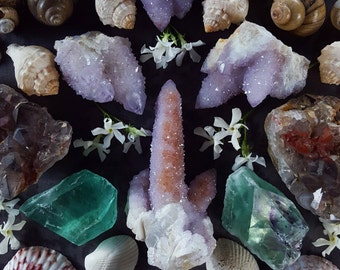 Spirit Quartz Point - Pink Spirit Quartz Crystal - Large Spirit Quartz Cactus Quartz Fairy Quartz - Pastel Pink Spirit Quartz Crystal